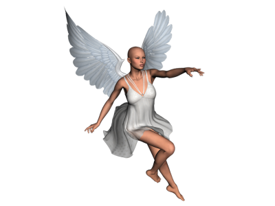 Sitting Angel Character PNG Images