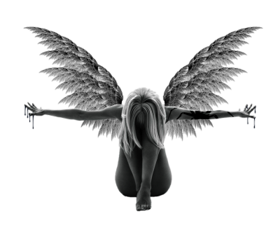 Angel, Girl, Darkness, Transparent Wings Angel PNG Images