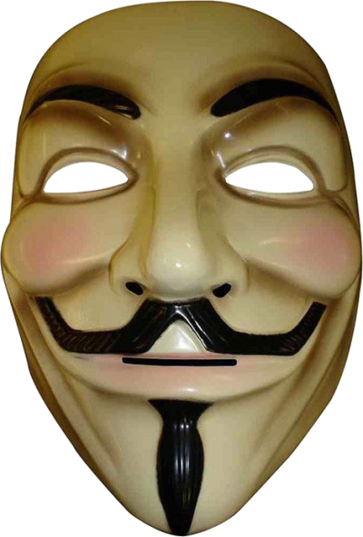 Comic Anonymous Mask Png PNG Images