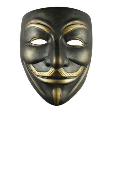 Gold Dark Anonymous Mask Png PNG Images