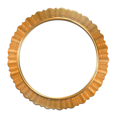 Antique Gold Photo Frame Png Image