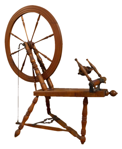 Antique Spinning Wheel Png PNG Images