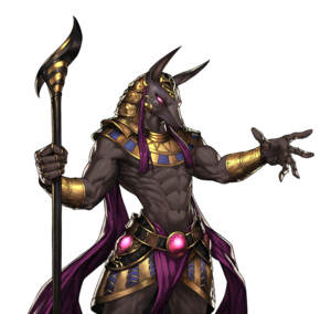 Anubis Brown Dust  Clipart Image