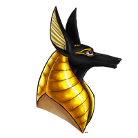 Gold-Mane Anubis Head Image Photo