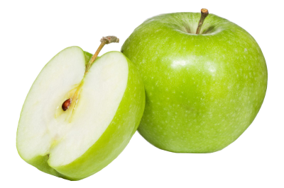 Apple Fruit Slice Green Transparent Picture