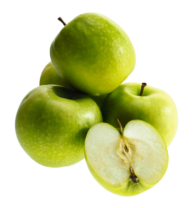 Green Apple Fruits Transparent PNG Images