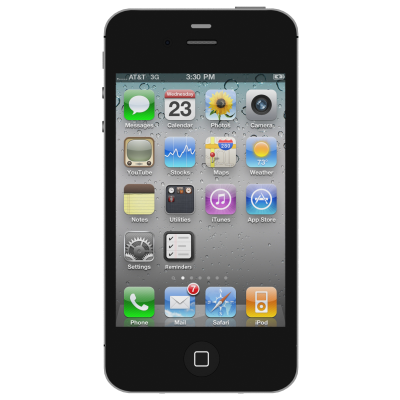 Black Apple Iphone 4s HD Image PNG Images