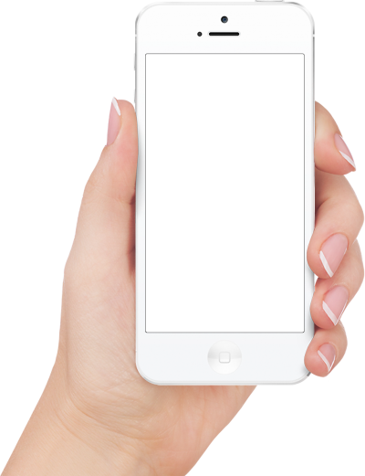 White Apple Iphone in Hands PNG Images