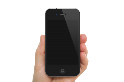 Black Apple Iphone PNG Icon