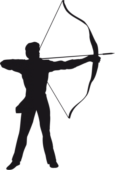 Archery Clip Art Bow And Arrow Bowhunting Silhouette Png