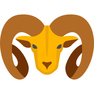 Big Horned Ram Image Yellow Clipart
