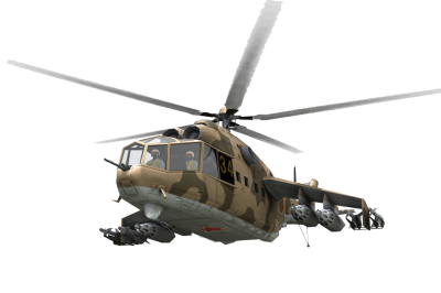 Patterned Military Army Helicopter HD Image