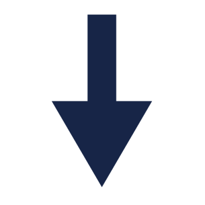 Blue Down Arrow Icon Png