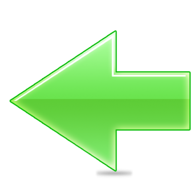 Green Arrow Left Icon Png