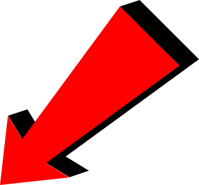Red Left Conner Arrow Transparent