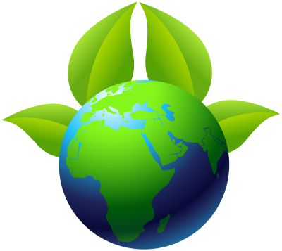 PNG Green Leaf Painting Art On Earth PNG Images