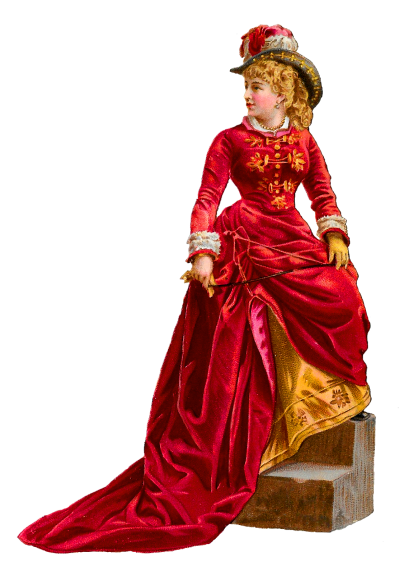 Doll In Red Dress Art Transparent Hd PNG Images
