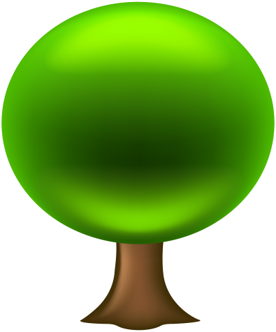 PNG Ellipse Shaped Green Leafy Clipart Tree Art Photo PNG Images