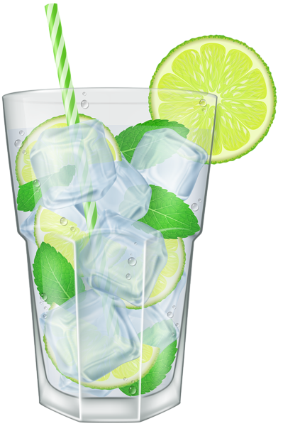 Cocktail Photo Of Lemon And Ice In Art Glass, Cool, Cold, Drink PNG Images