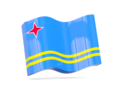 Wavy Clipart Aruba Flag Picture PNG Images