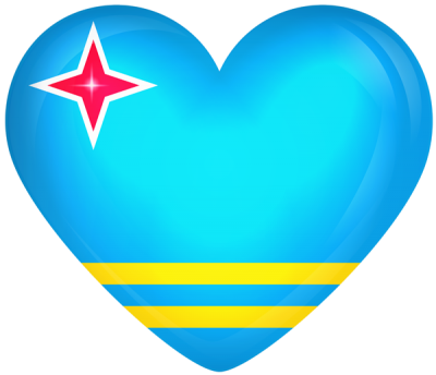Heart icon On Aruba Flag image Hd PNG Images