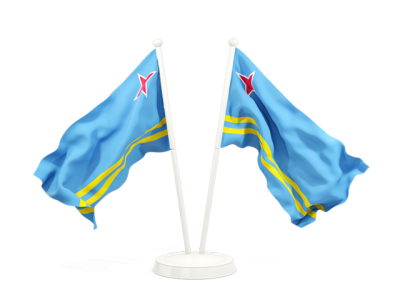 Two Waving Aruba Flag Photo, Desktop Aruba Flag PNG Images