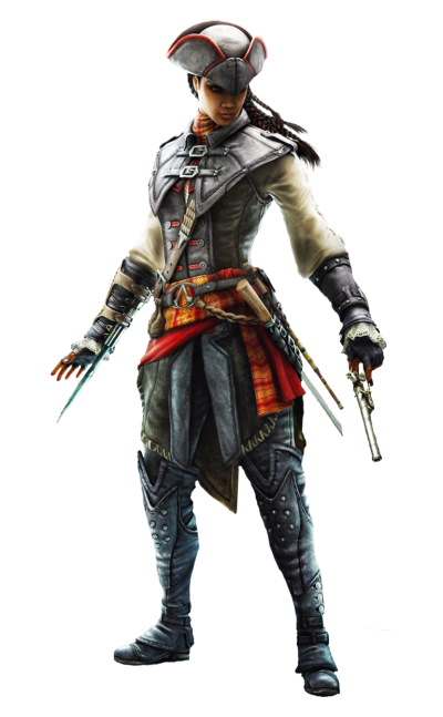 Long Haired And Armored Assassins Creed Player Clipart