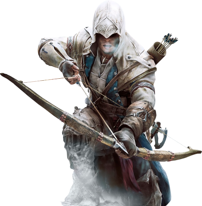 Assassinu Creed Warrior Transparent In White Costume