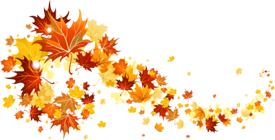 Autumn Leaves Decoration Background PNG Images