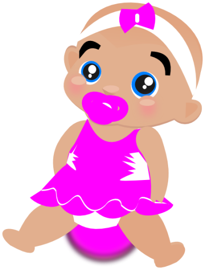 Pink Baby Girl Clipart Png