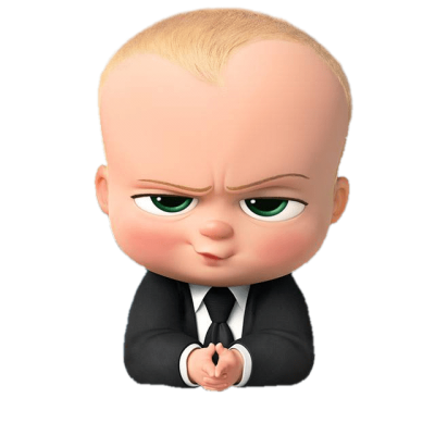 Boss Baby Angry Look Transparent Png PNG Images