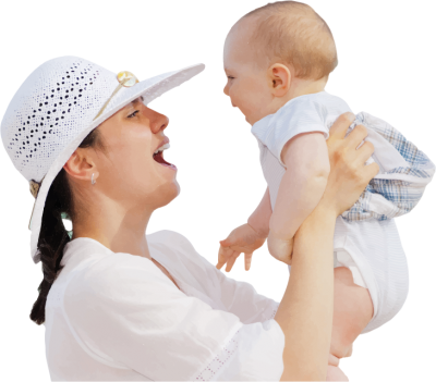 Mother And Baby Having Fun Png PNG Images