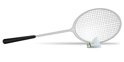 White Shuttlecock And Racket Badminton Png Download PNG Images