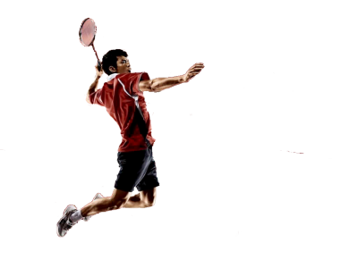 PNG Badminton, Racket, Man, Hit The Ball In The Air PNG Images