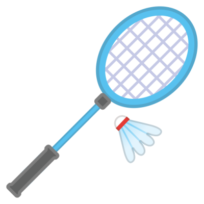 Blue Badminton Racket With Shuttlecock PNG PNG Images