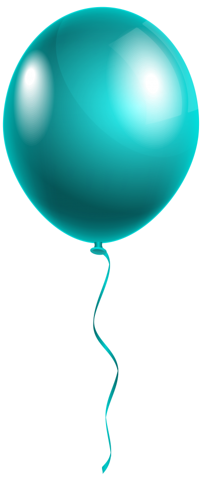 Turquoise Flying Transparent Balloon, Helium, Air, Gas PNG Images