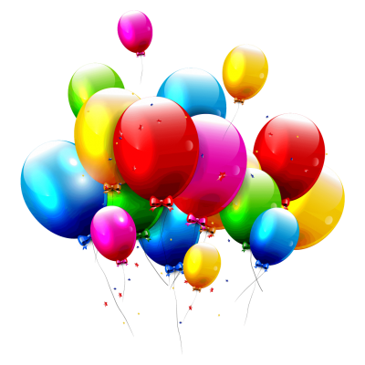 Four Colored Celebration Balloons HD, Entertainment, Special Occasions PNG Images