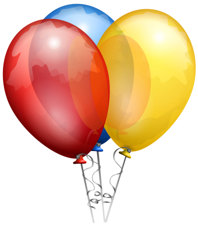 Three Color Balloon Drawing Clipart PNG, Play, Fun, Kite