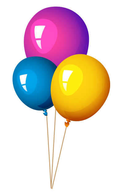 Colorful Flying Balloons With Long Strings PNG PNG Images
