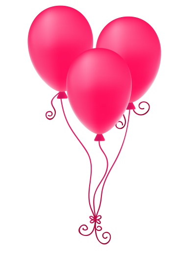 Pink Balloons Transparent HD PNG Images