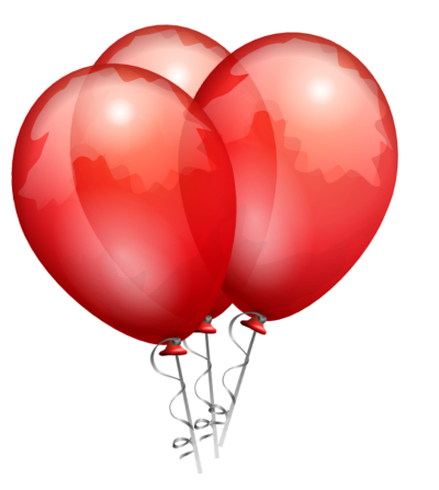 Red Balloons Cut Out Png PNG Images