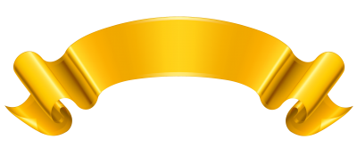 Gold, Yellow, Banner Png