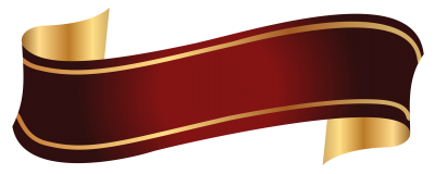 Red And Gold Banner Png Clipart Image PNG Images