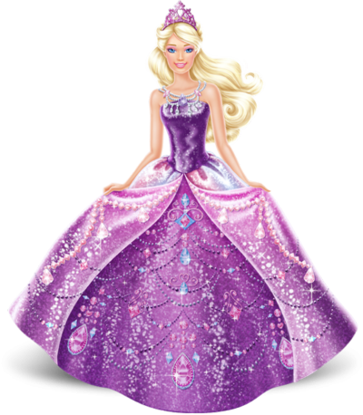 Barbie, Purple, Dress Png PNG Images