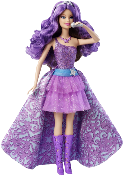Purple Barbie Doll Png Transparent Image