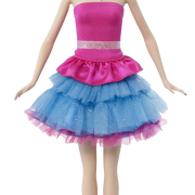 White And Blue Barbie Doll Png Transparent Images