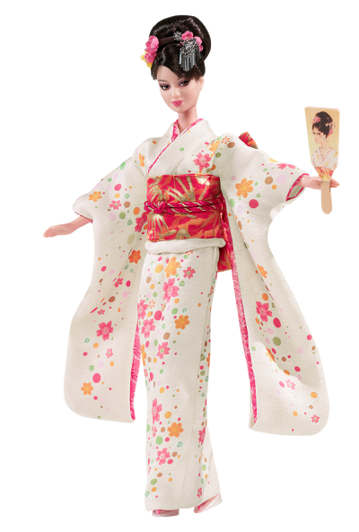 White Japan Barbie Doll Png PNG Images