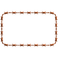 Borders Barbwire Clipart PNG Images