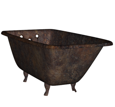 Rusty Old Bathtub Png PNG Images