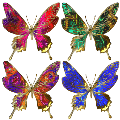 Butterfly Batik Free Download PNG Images